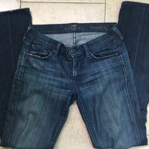 7 for all mankind straight leg jean size 25